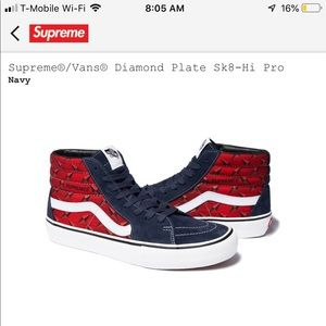 buy online 87fe8 a4b1d Supreme x vans collab shoes